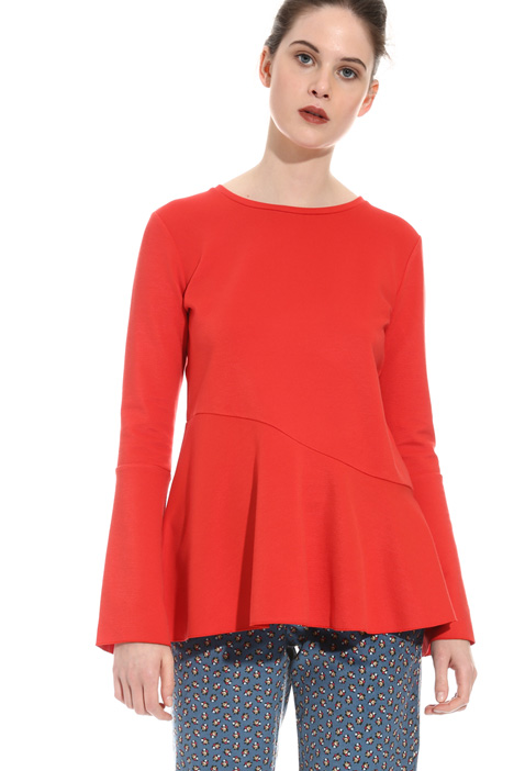 T-shirt in jersey ottoman Intrend
