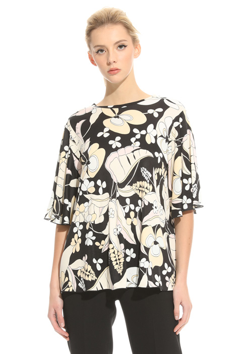 Blusa in jersey di viscosa Intrend
