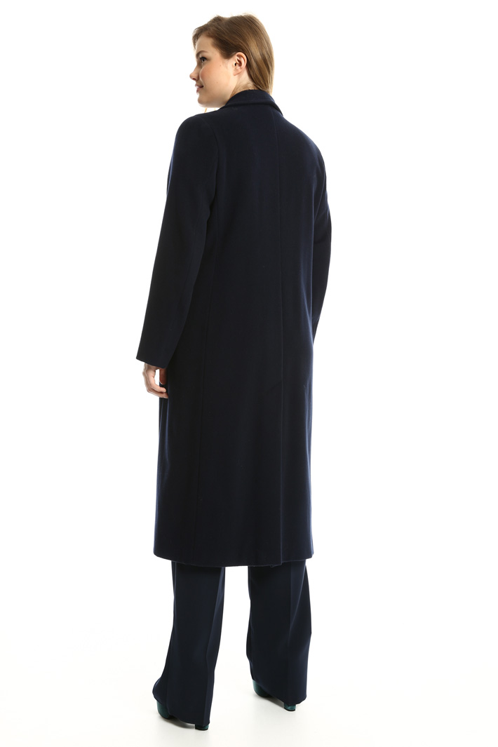 Wool drap long coat  Intrend