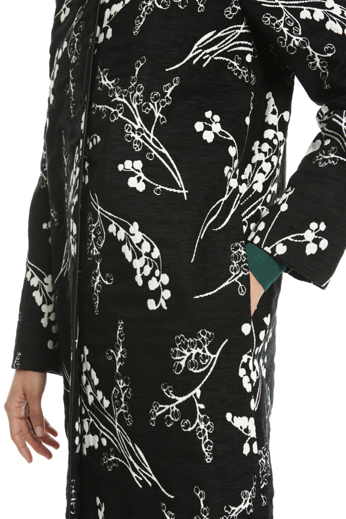 Duster coat in jacquard fabric Intrend