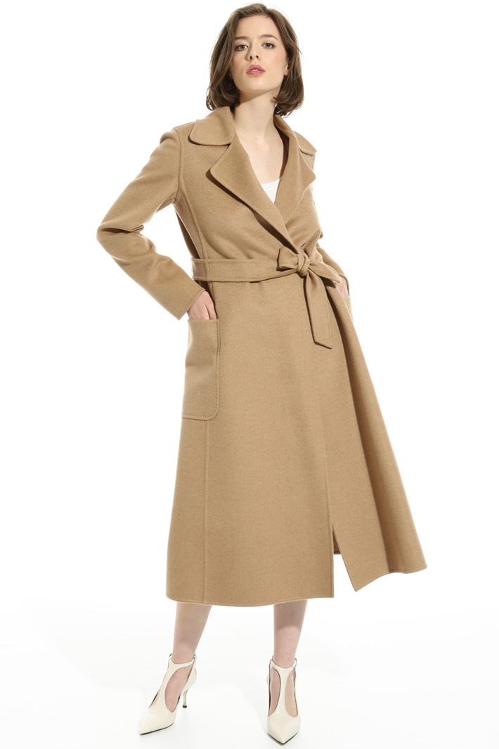 Flared camel coat Intrend