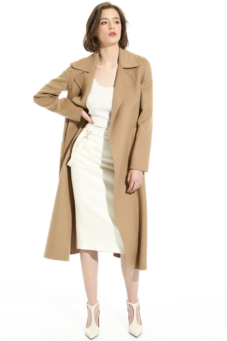Flared camel coat Intrend