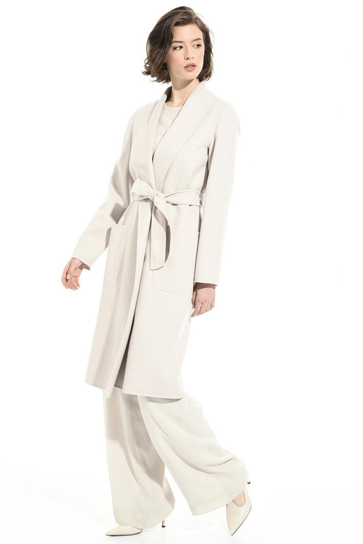 Shawl collar coat Intrend