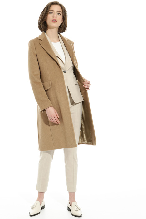 Camel drap coat Intrend
