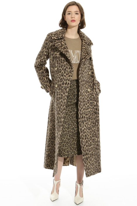 Long animal print coat Intrend