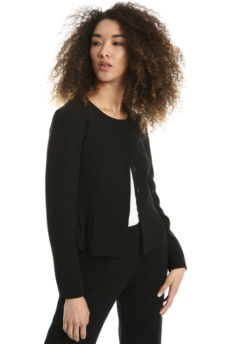 Triacetate peplum jacket Intrend