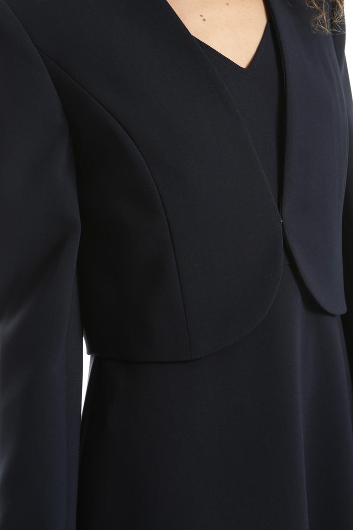 Triacetate bolero jacket Intrend