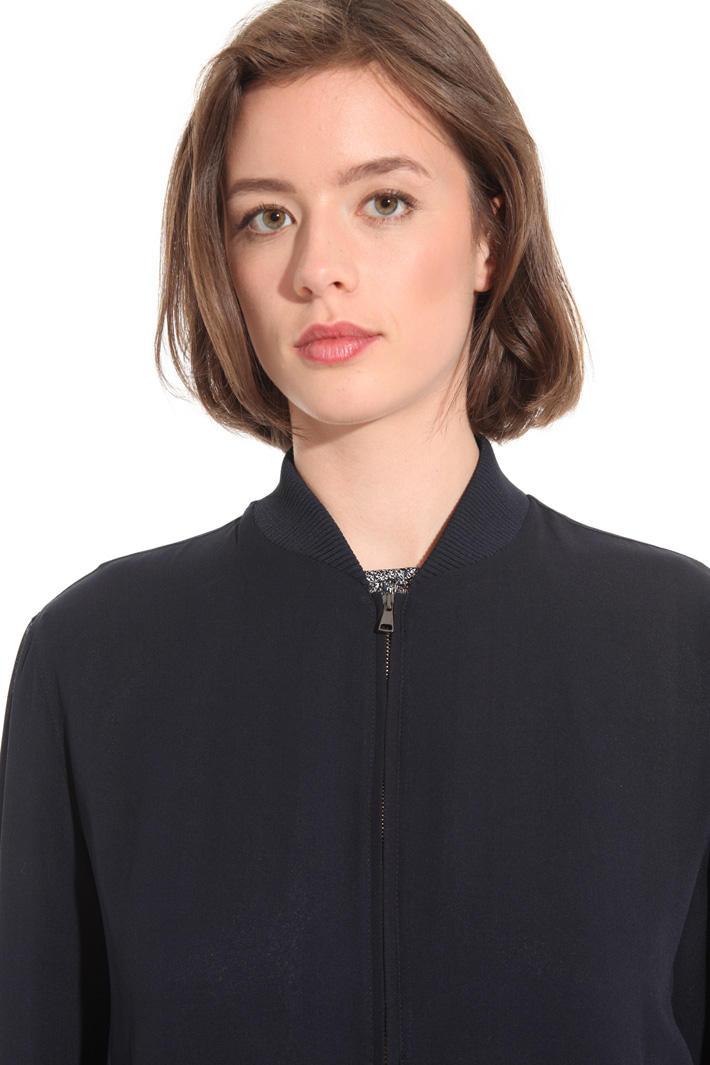 Silk georgette bomber jacket Intrend