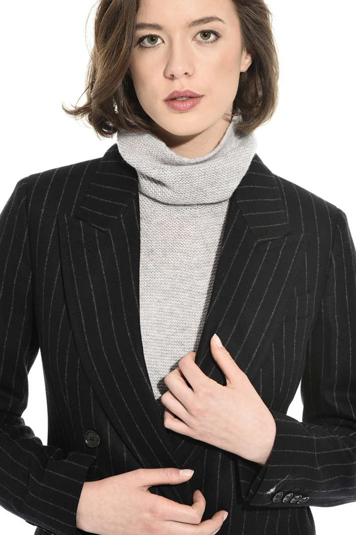 Pinstriped flannel jacket Intrend
