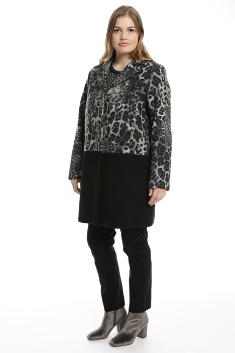 Cappotto in panno animalier Intrend