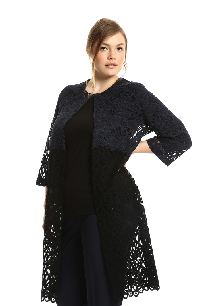 Rebrodé lace duster coat Intrend