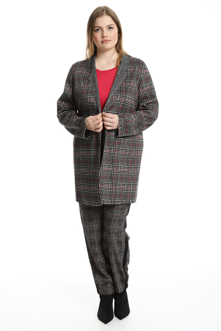 Double pattern duster coat Intrend