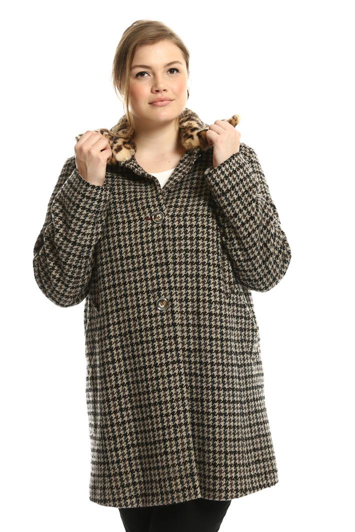 Houndstooth coat  Intrend