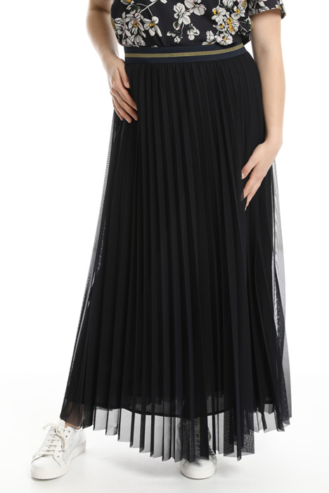 Long pleated tulle skirt  Intrend