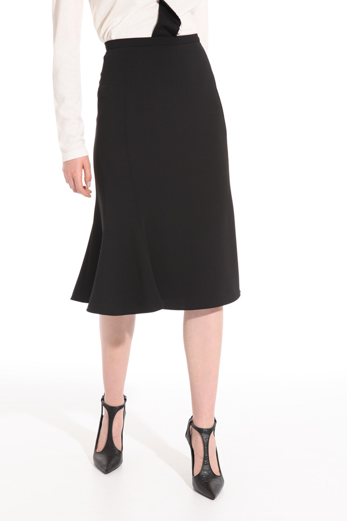 Flounced knee-length skirt Intrend