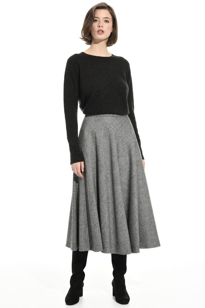 Virgin wool A-line skirt Intrend