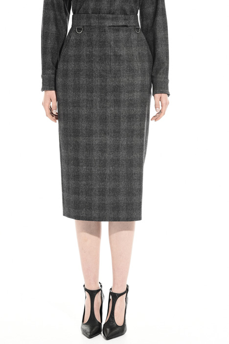 Flannel sheath skirt Intrend