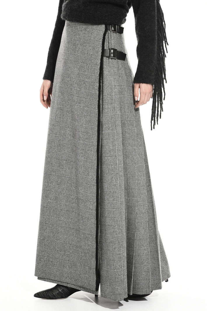 Long flannel skirt Intrend