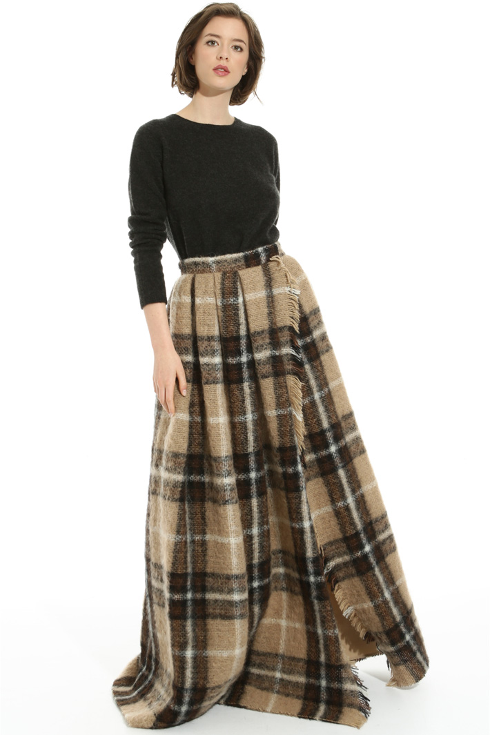 Alpaca and mohair skirt Intrend