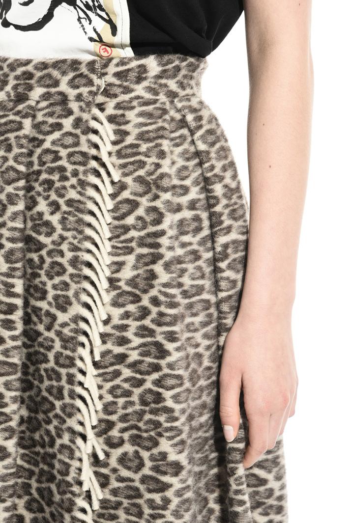 Long alpaca blend skirt Intrend