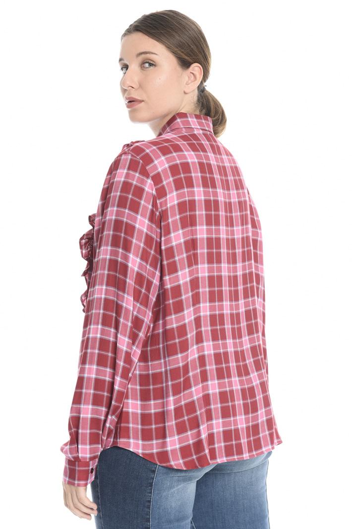 Checked viscose shirt Intrend