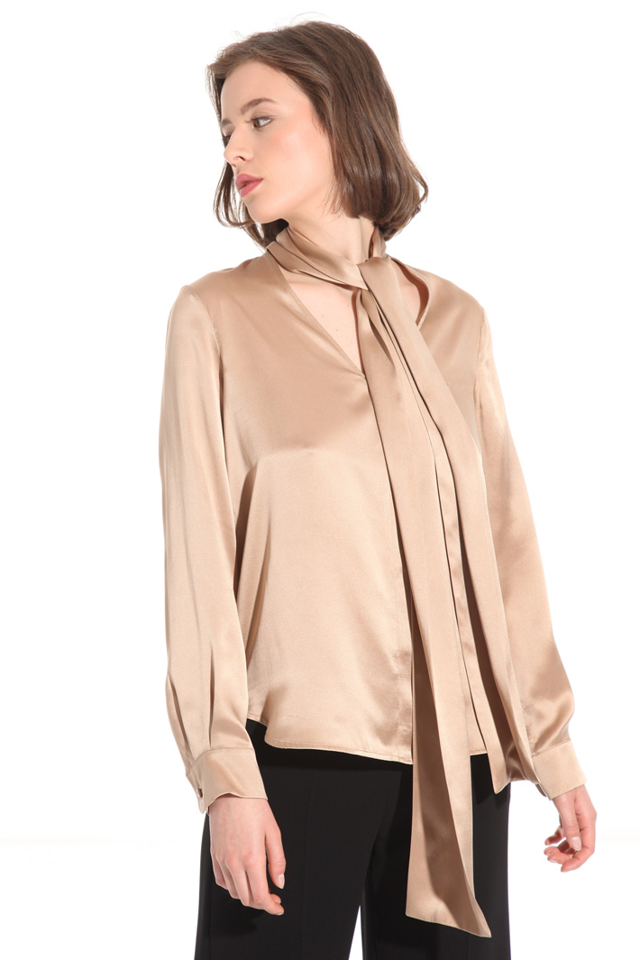 Silk satin blouse Intrend