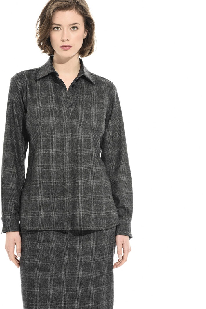 Yarn-dyed flannel shirt Intrend