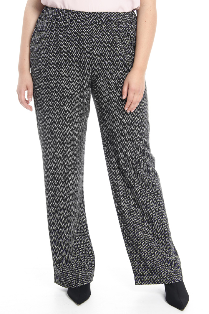 Printed fluid trousers Intrend
