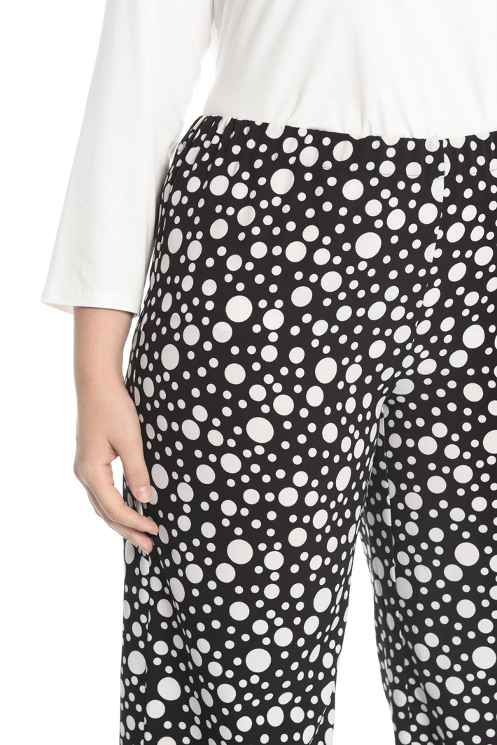 Printed crepe trousers Intrend
