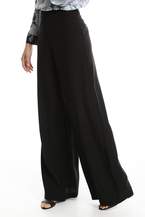 Wide-leg twill trousers Intrend
