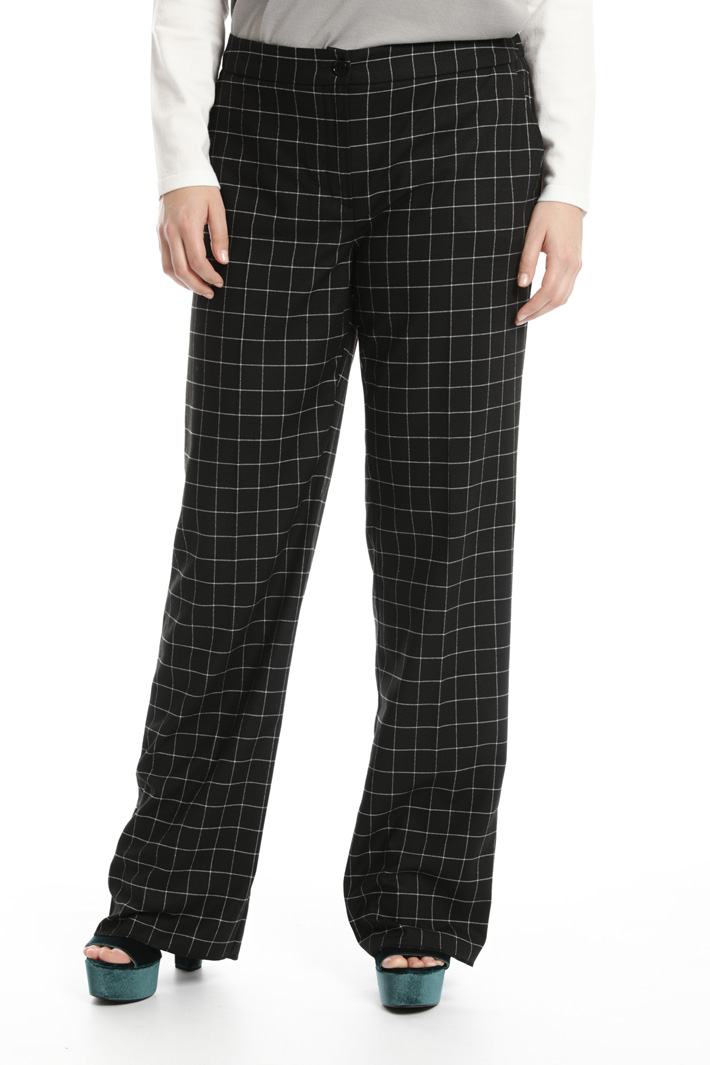 Straight leg flannel trousers Intrend