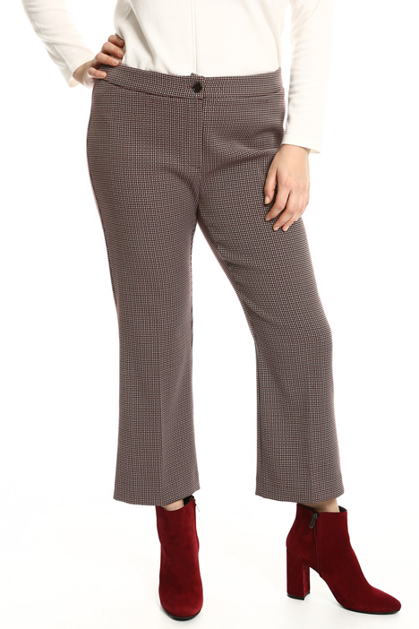 Flared jacquard trousers Intrend