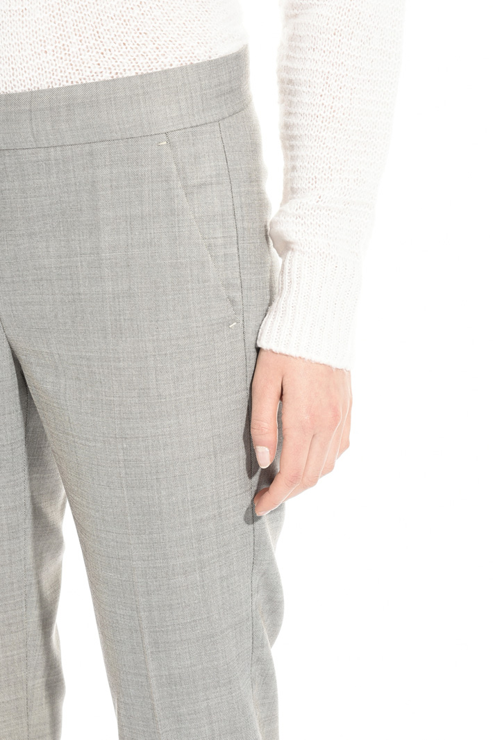 Wool silk blend trousers Intrend