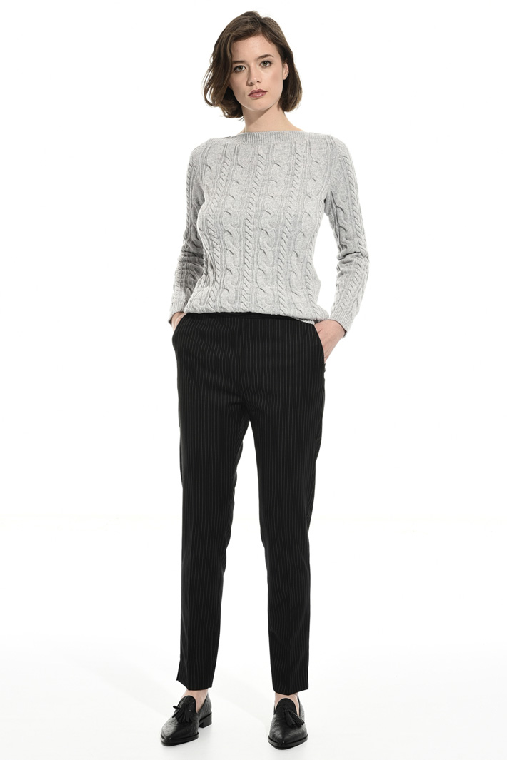 Striped wool trousers Intrend