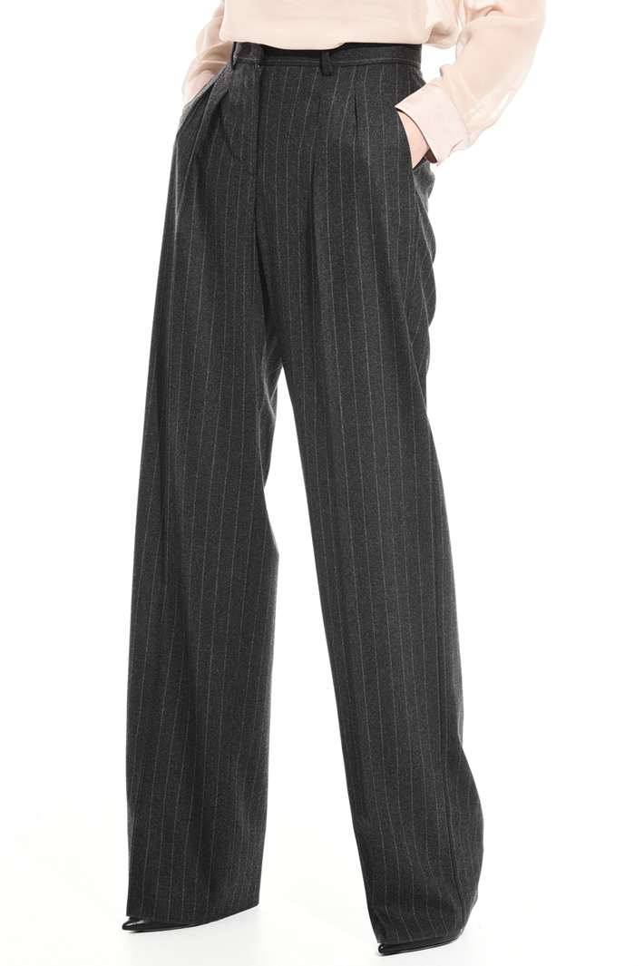 Pinstriped flannel trousers Intrend