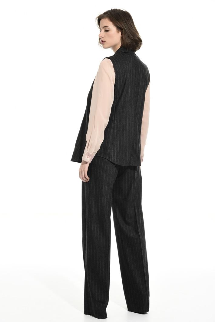 Pinstriped flannel vest Intrend