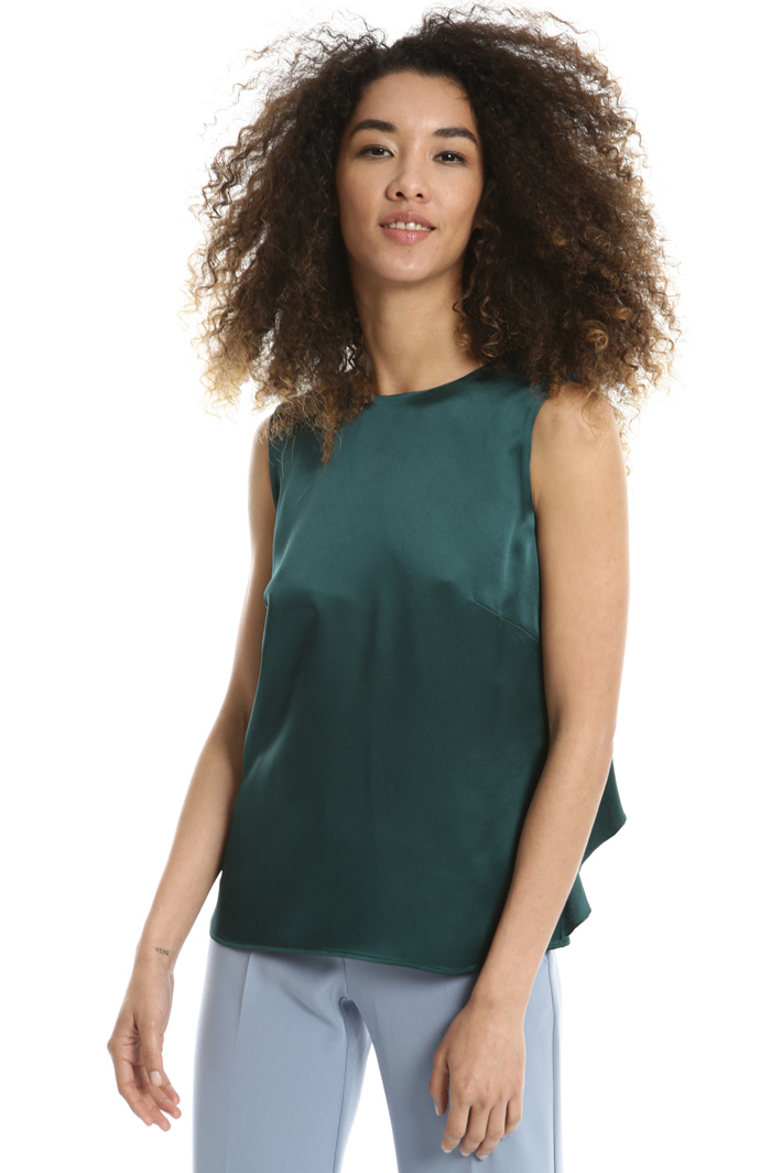 Back V-neck top Intrend