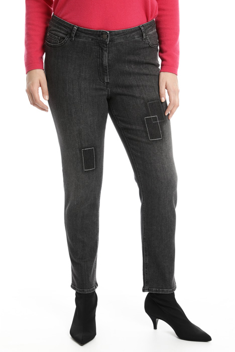Jeans skinny con impunture Intrend