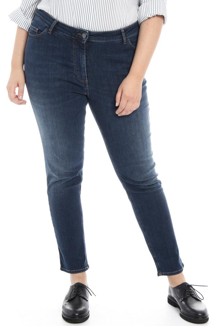 Jeans nero semiaderente