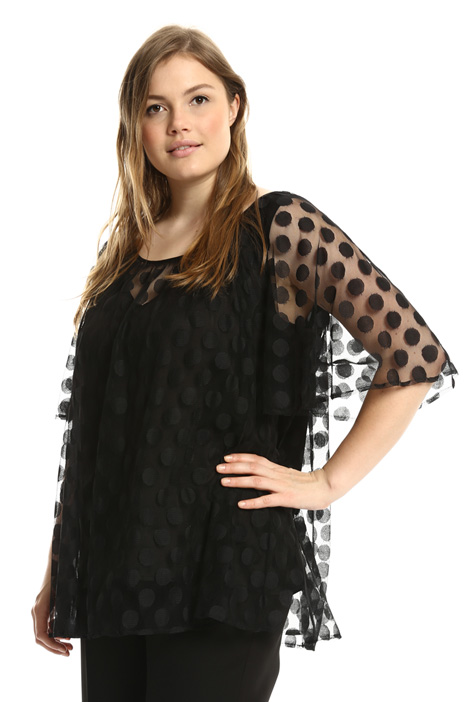 Top in tulle jacquard Intrend