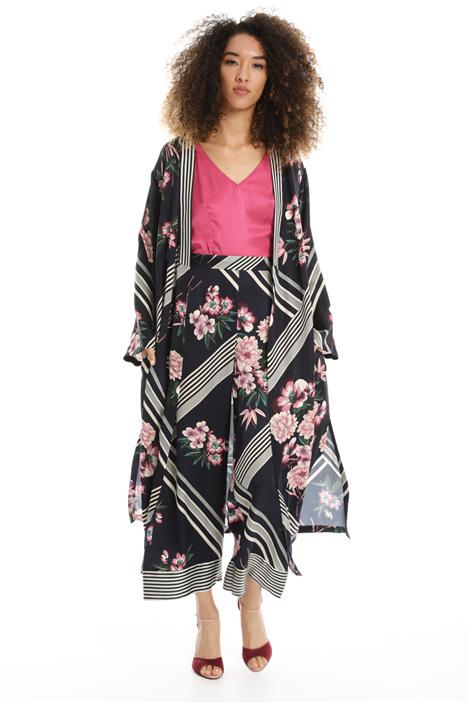 Printed satin kimono Intrend