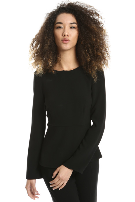 Blusa peplo in triacetato Intrend