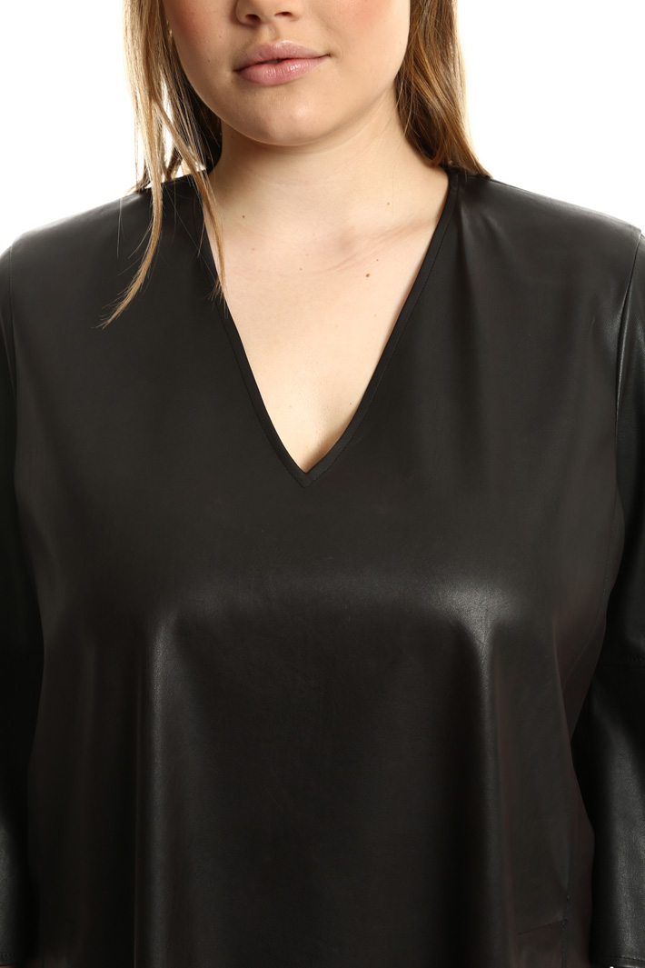 Leather-effect tunic Intrend
