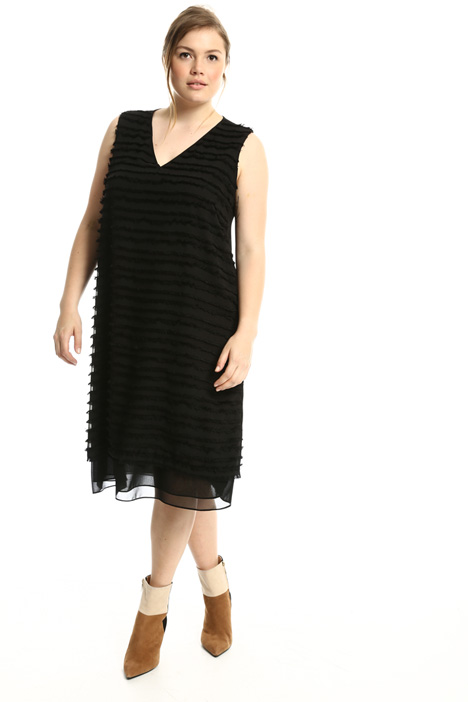 Flared dress with fringe  Intrend