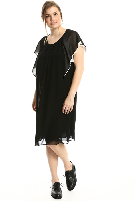 Two-tone georgette dress  Intrend