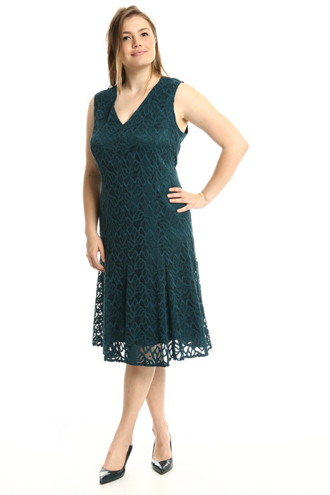 Flared rebrodé lace dress  Intrend