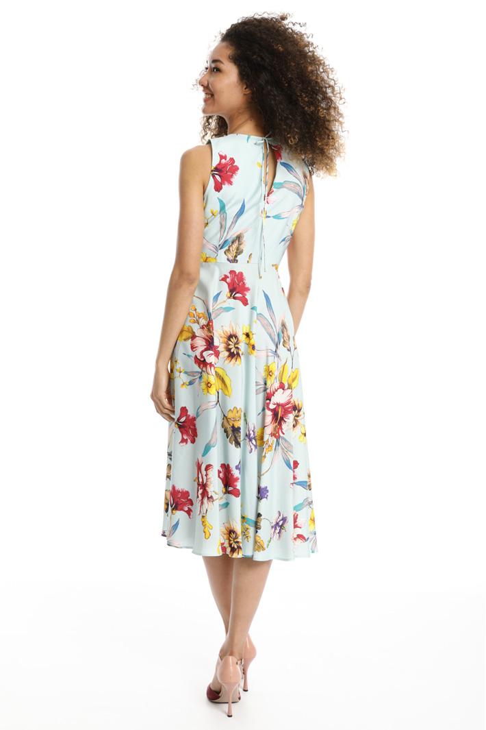 Floral twill dress Intrend