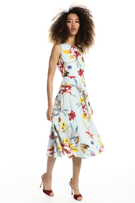 Floral twill dress Intrend