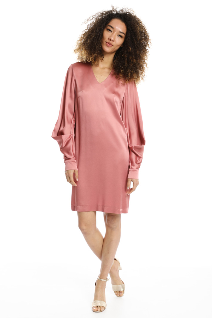 Draped sleeve dress Intrend