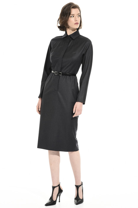 Virgin wool midi dress Intrend